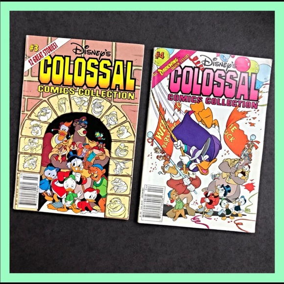 """TWO DISNEY """"COLOSSAL COMICS COLLECTION"""" BOOKS"""